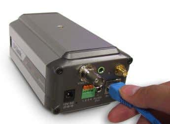 Internet Camera's back panel and attach it to the network. Note: It is required that an