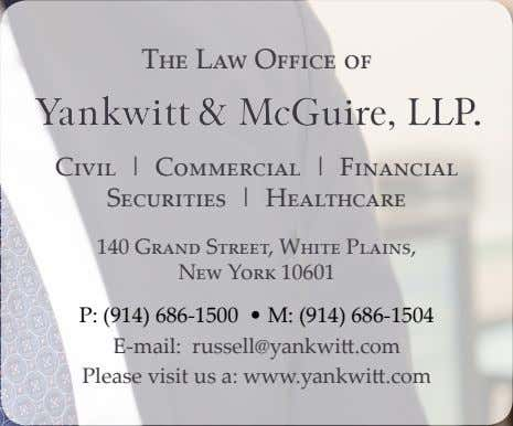 The Law Office of Civil | Commercial | Financial Securities | Healthcare 140 Grand Street,