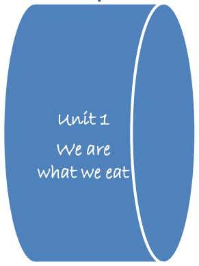 Unit 1 We are what we eat