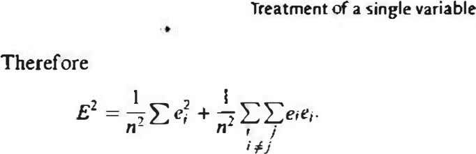 Treatment of 3 single variable Therefore � £ 2 = � l:::er + LL€; e ;