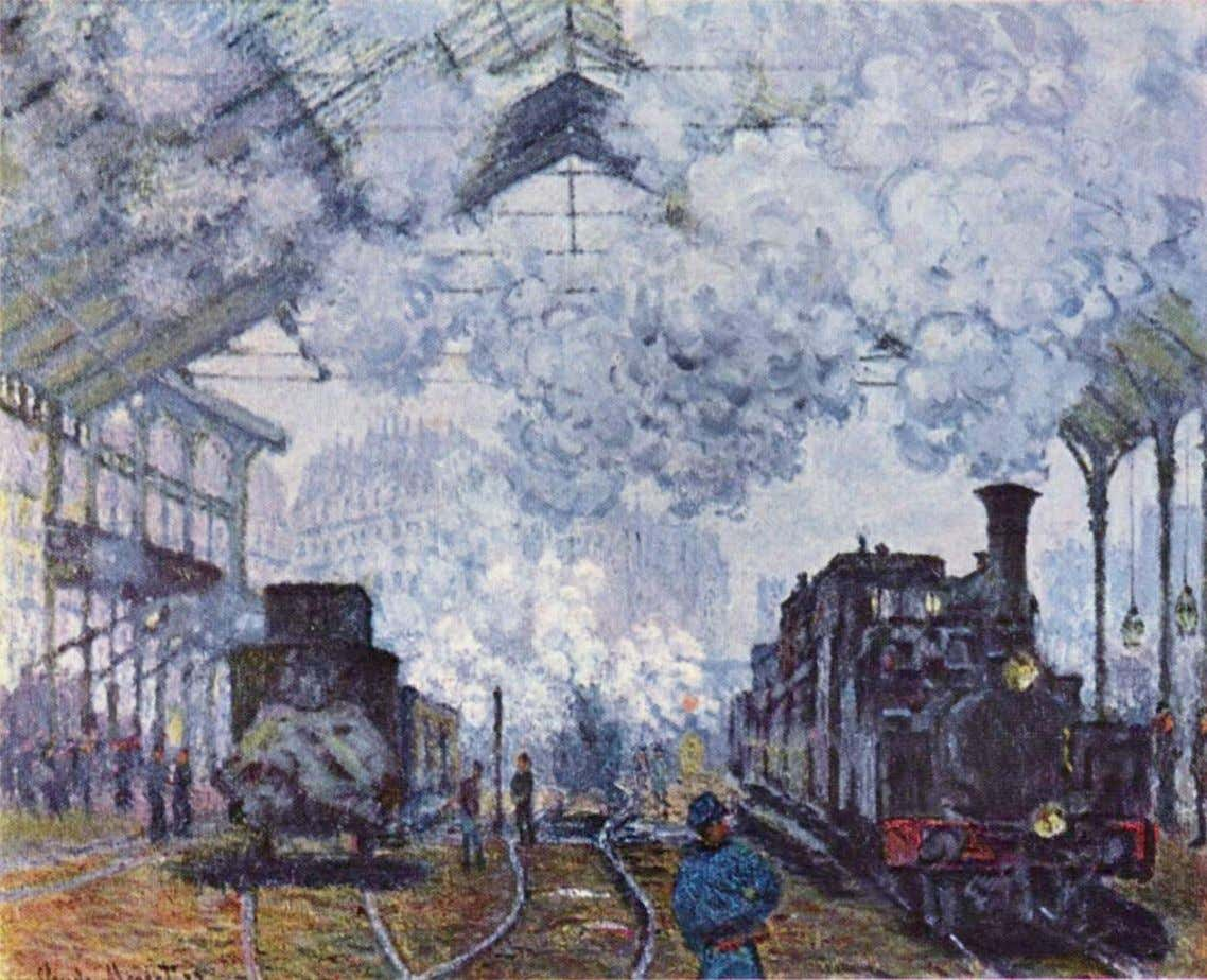 Monet – Train en Gare Saint Lazare