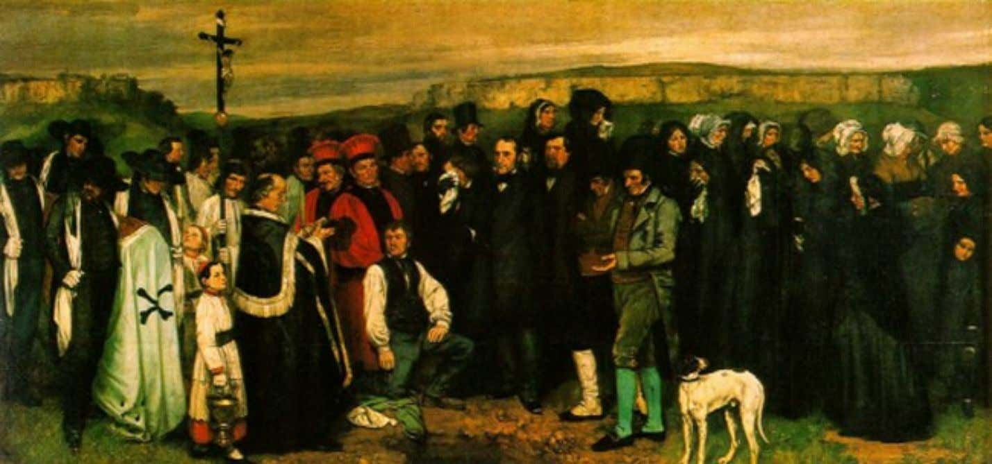 Courbet – Enterrement à Ornans