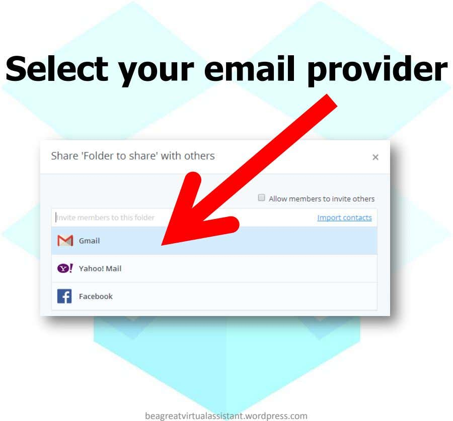 Select your email provider beagreatvirtualassistant.wordpress.com
