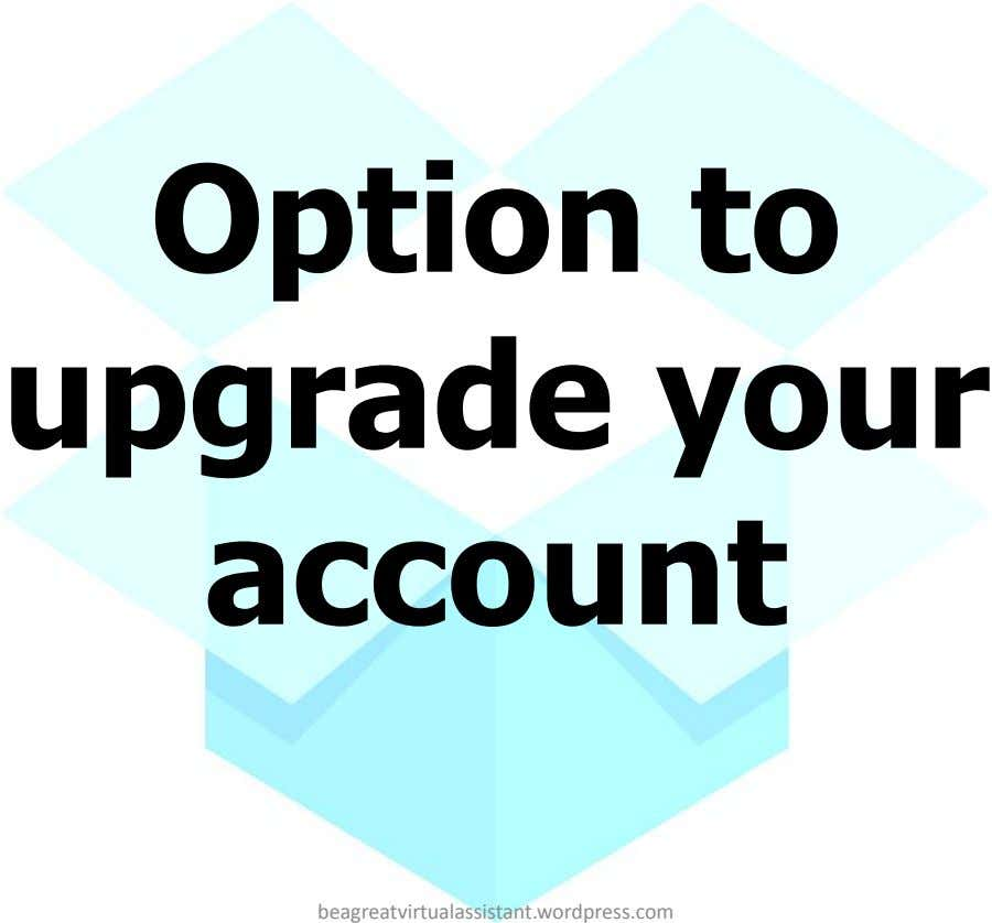 Option to upgrade your account beagreatvirtualassistant.wordpress.com