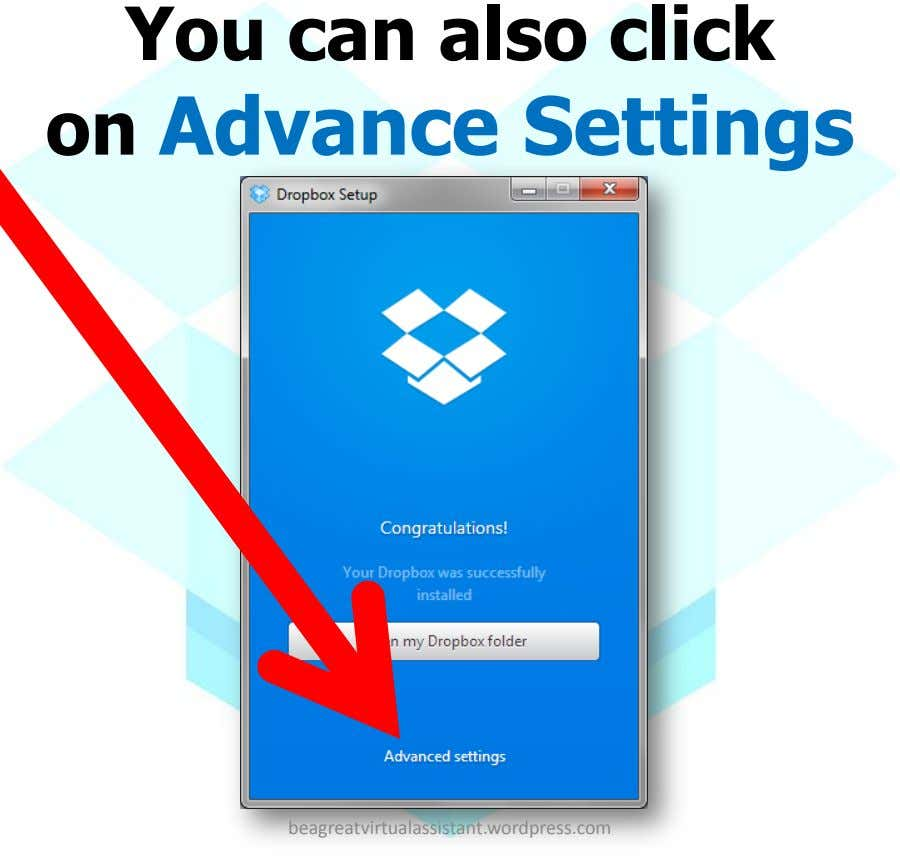 You can also click on Advance Settings beagreatvirtualassistant.wordpress.com