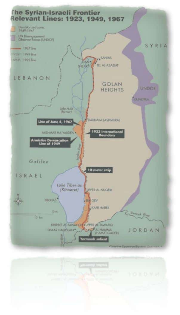 Hof - Line of Battle, Border of Peace? The Line of June 4, 1967 Line of
