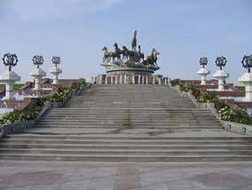 The largest number of sculptures located in Ashgabat . Monument in Ashgabat See also Monument in