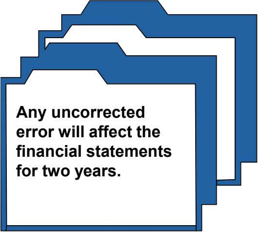 Any uncorrected error will affect the financial statements for two years.