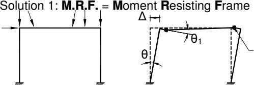 Solution 1: M.R.F. = Moment Resisting Frame 1