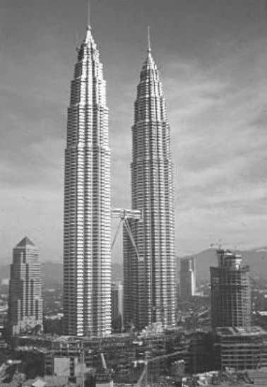 1.36. A modern concept of a multi-storey steel structure Petronas Towers 452m – 88 floors –