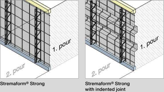 Stremaform ® Strong Stremaform ® Strong with indented joint 1. pour 1. pour