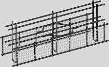 ® kicker formwork with rubber water bar cage Rubber water bar cage design matches planned joint