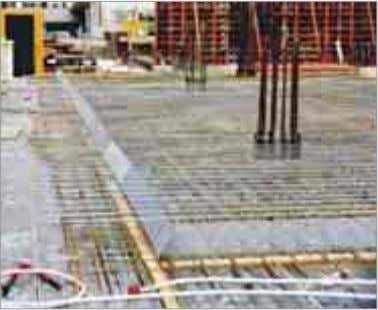 of upper reinforcement by simple positioning. 3 2. pour 1. pour Technologies for the construction industr