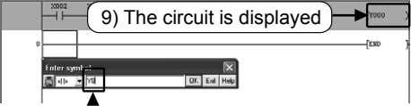 9) The circuit is displayed