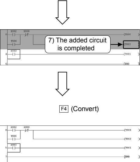 7) The added circuit is completed F4 (Convert)