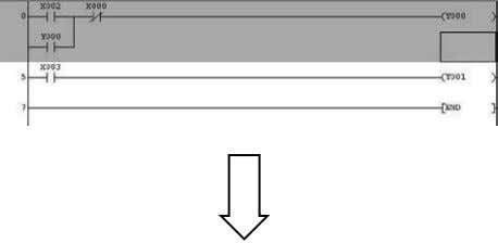 (Convert) 5) The deleted circuit block is displayed in grey. 6) Confirm the changes by