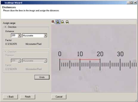 Next . Now select the Single distance calibration method. Enter the calibration distance and units. Draw