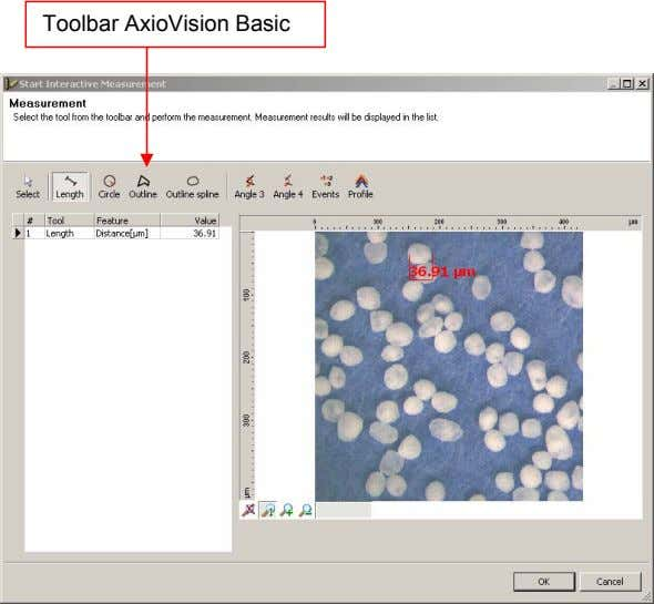 Toolbar AxioVision Basic