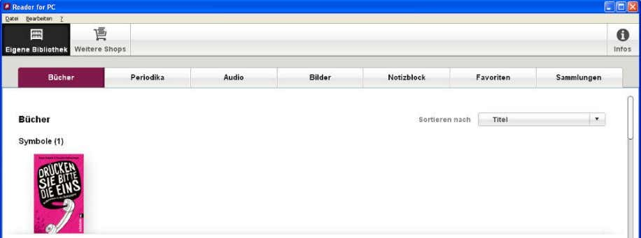 Reader for PC Reader for PC Synchronisation