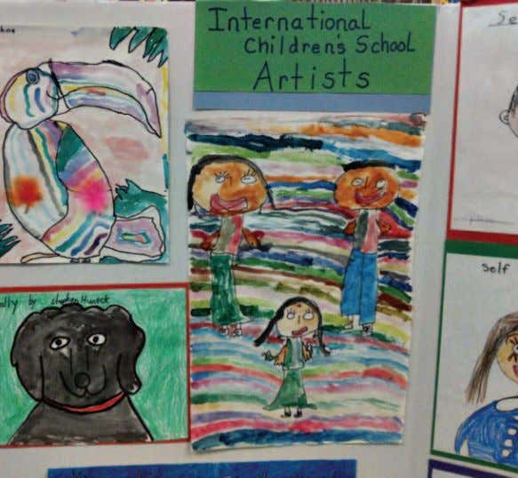 Photo courtesy of the International Children's School here is a sample of our new students' artwork.