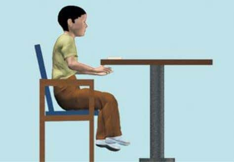 sit upright and be seated front half of the chair space. 3. Abacus tool should be