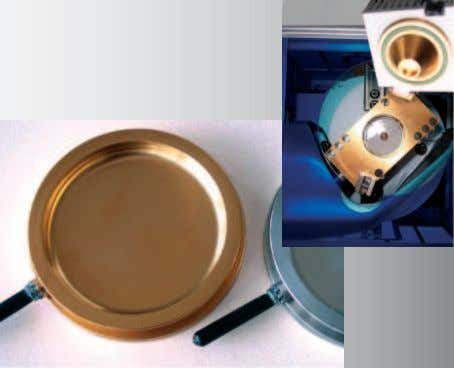 parts in contact with sample material are gold- coated. Automatic transfer of the sample weight to
