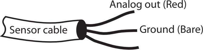 Analog out (Red) Sensor cable Ground (Bare)