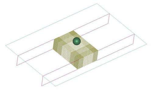 is modelled by using eight node hexahedron solid elements. Figure 20. Modelled panel with urethane filling.