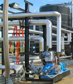 including asphalt plants throughout North America. CSI Solution CSI designed and built an opti- mized heated