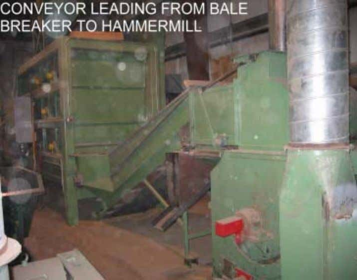 Figure V-6. Feeder for the Verdyol Bale Breaker Figure V-7. Conveyor from the Bale Breaker to