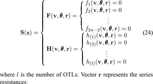 . . . (24) . . . where is the number of OTLs. Vector represents