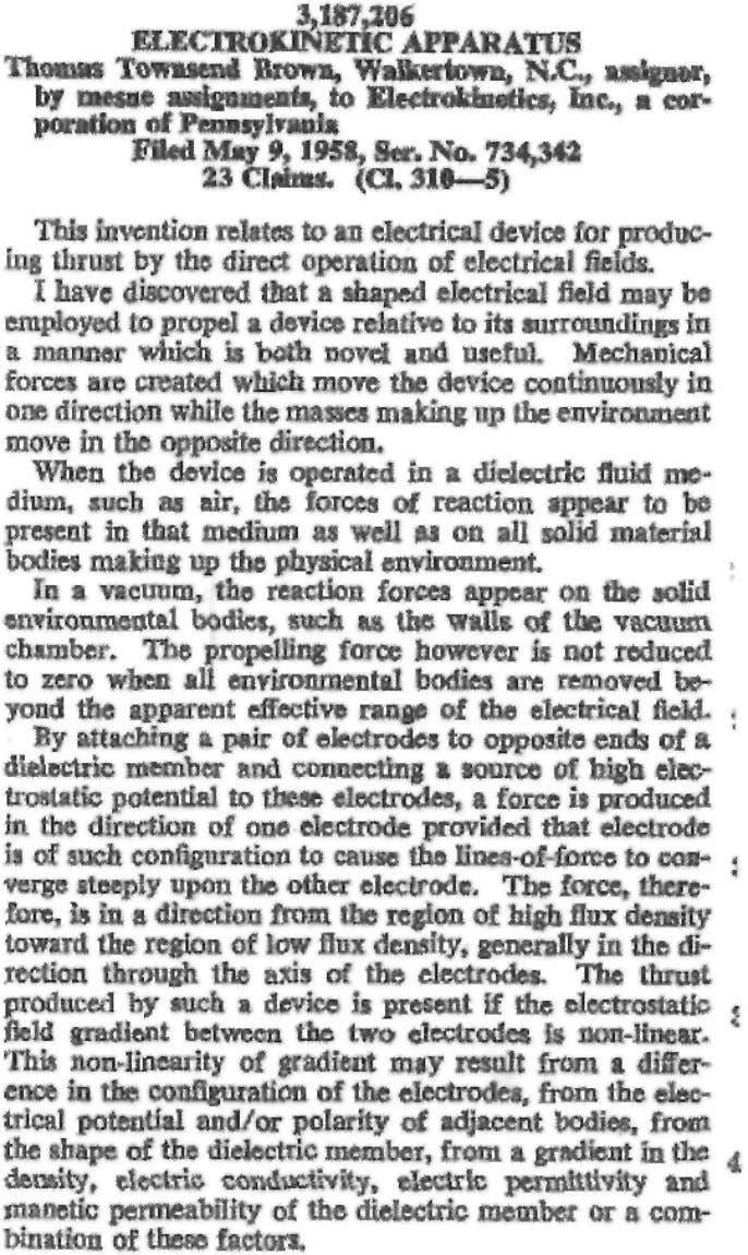 "of the electric field."" Here is a quote from the patent: 33 Fig. 5 Excerpt from"