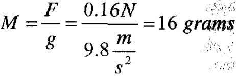 (16), due to the drift of Nitrogen ions, could lift a mass M (18) The force