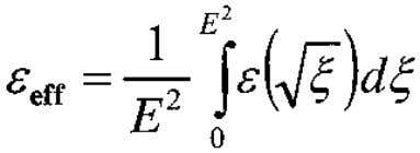 is an effective (averaged) dielectric constant given by (29) where depends on spatial position (because of