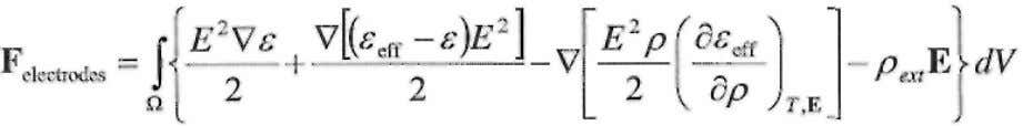 s is the negative of the total force on the dielectric: (33) where we have dropped