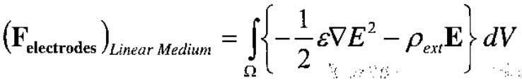case of a linear dielectric fluid: and the is a constant. (36) For a linear medium,