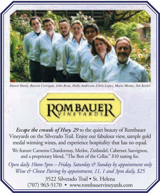 www.WineCountryThisWeek.com WINE COUNTRY THIS WEEK 7