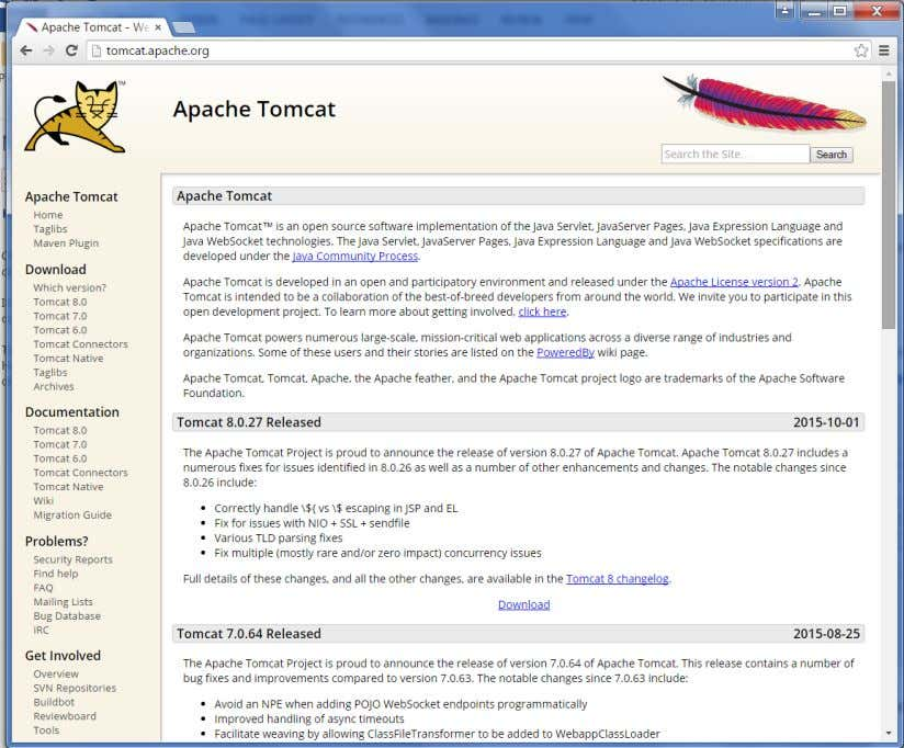 If you click the given link, you can get the home page of the tomcat official