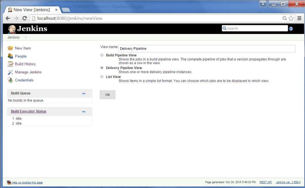 name and choo se the option 'Delivery Pipeline View'. Step 10 : In the next screen,