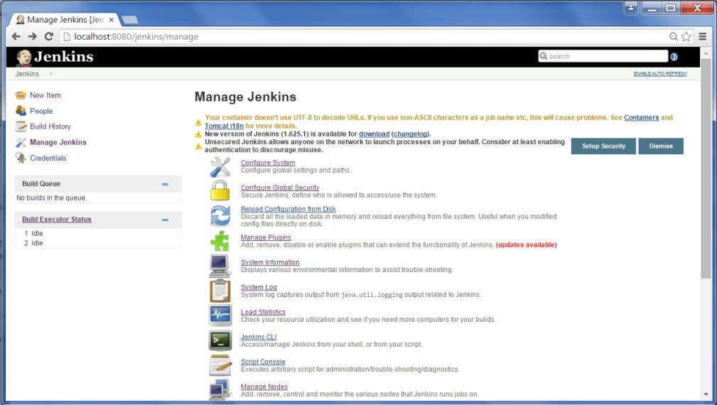 follow the steps given below. Step 1 : Click on Manage Jenkins and choose the 'Configure