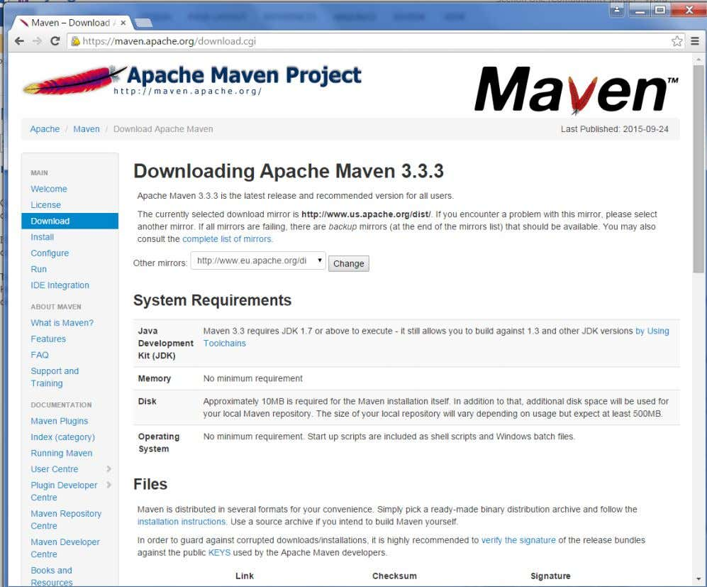 . If you click the given link, you can get the home page of the maven