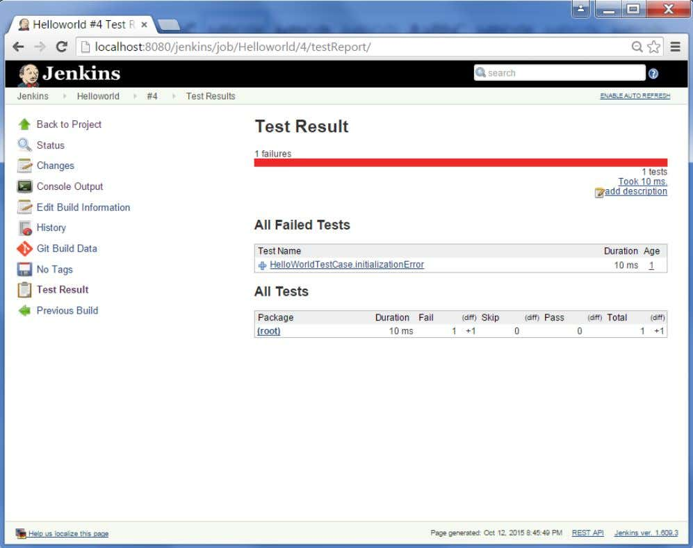 But what's more interesting is that if you click on Test Result, you will now see