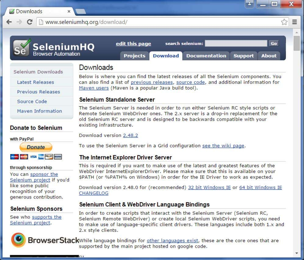 from the location http://www.seleniumhq.org/download/ Click on the download for the Selenium standalone server. 58