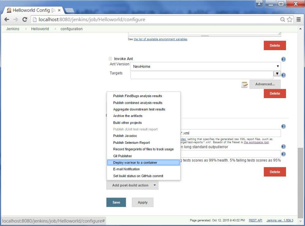 2 : Go to your Build project and click the Configure option. Choose the option ""