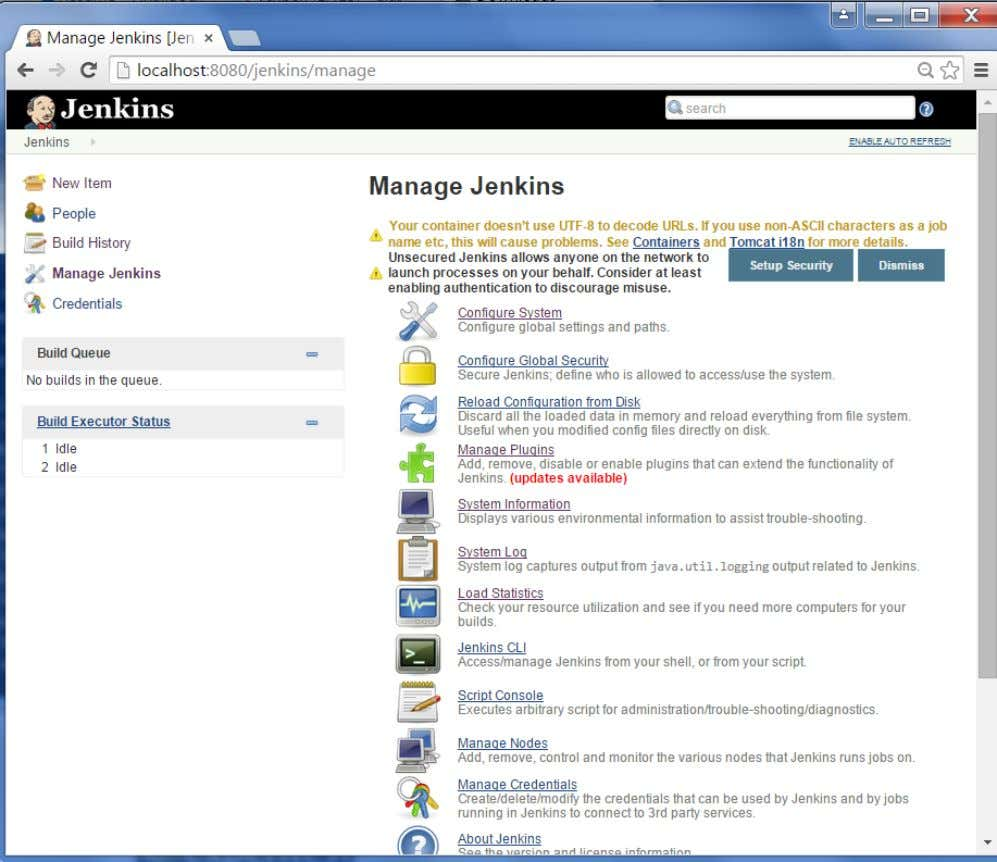 Step 2 : Go to the Manage Plugins option. Jenkins 76