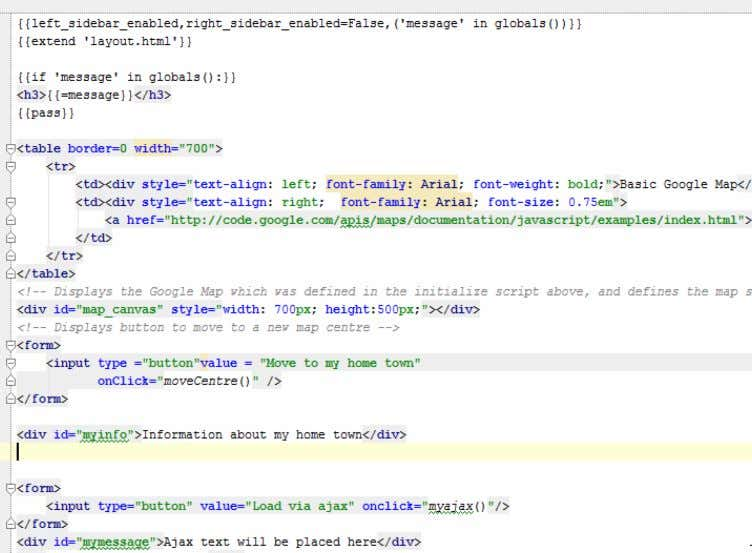 part of this lab into the view gmap above the ajax html. Now paste the script