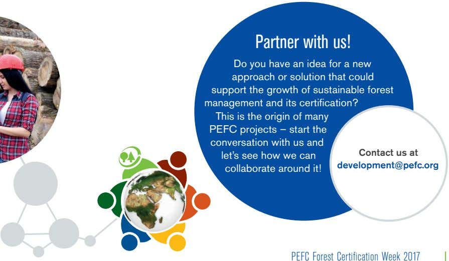 Partner with us! Do you have an idea for a new approach or solution that