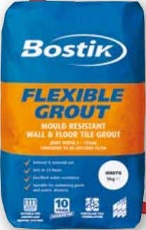 FLEXIBLE GROUT MouLd rESIStANt WALL & FLoor tILE Grout quality, cementitious, flexible FOR JOINTS BETWEEN 2