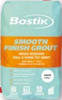 Cementitious Powder Grouts BOSTIK SMOOTH FINISH GROUT MouLd rESIStANt WALL & FLoor tILE Grout FOR JOINTS