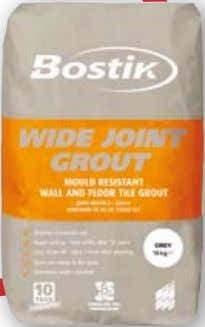 Cementitious Powder Grouts BOSTIK WIDE JOINT GROUT MouLd rESIStANt WALL & FLoor tILE Grout FOR JOINTS